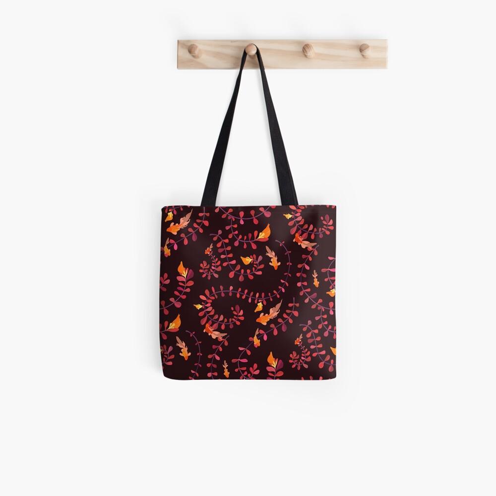 Goldfish Flower Pattern Tote Bag