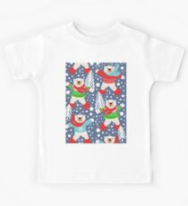 Party like a Polar Bear Dancing in the Snow, playing snowballs, Kids Tee