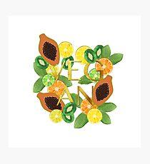 Vegan Fruit Photographic Print
