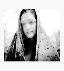 The Pagan Lady of the Wood - White and Kind Photographic Print