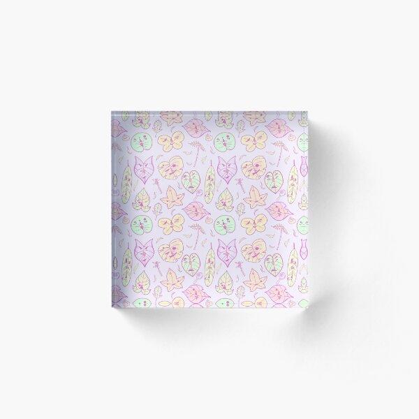 Hestu's Friends (Pastel Purple Ver.) Acrylic Block