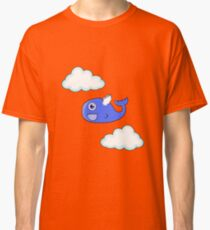 Cute Flying Baby Whale: Happy Among The Clouds  Classic T-Shirt