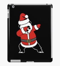 Dabbing Santa Christmas Panda T Shirt iPad Case/Skin