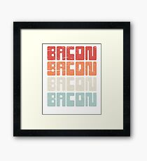 Vintage 70s BACON Text Framed Print