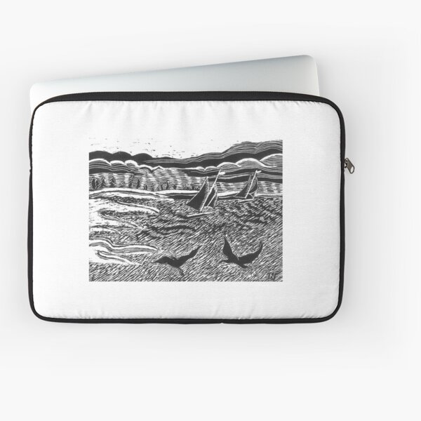 A windy day Sail Laptop Sleeve