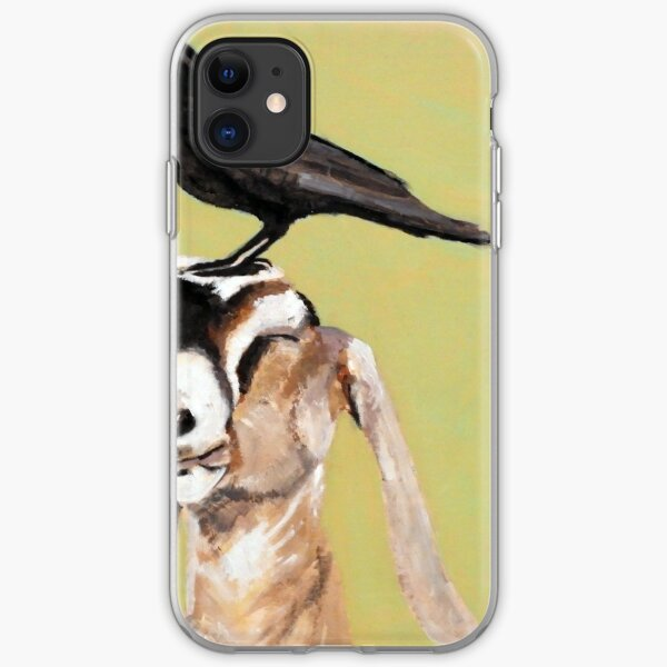 Goatcrow, 30x30, acrylic + oil on wood, 2017 iPhone Soft Case