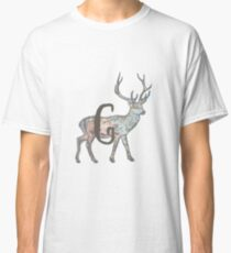 Deer with Letter G Classic T-Shirt
