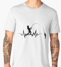 Fishing Heartbeat Cool Beat T-Shirt Great Gift For Fisherman Men's Premium T-Shirt