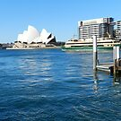Sydney Harbour with The Opera House by hans p olsen