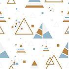 Modern Geometric Triangles Pattern by artonwear