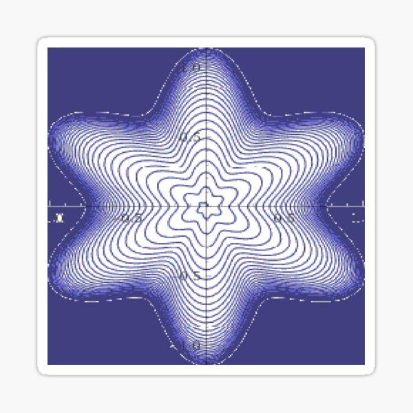 Spiral: Star of David Sticker