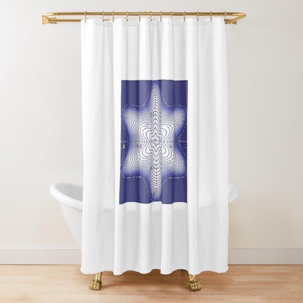 Spiral: Star of David Shower Curtain