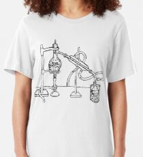 Distilation Apparatus (India Ink) Slim Fit T-Shirt