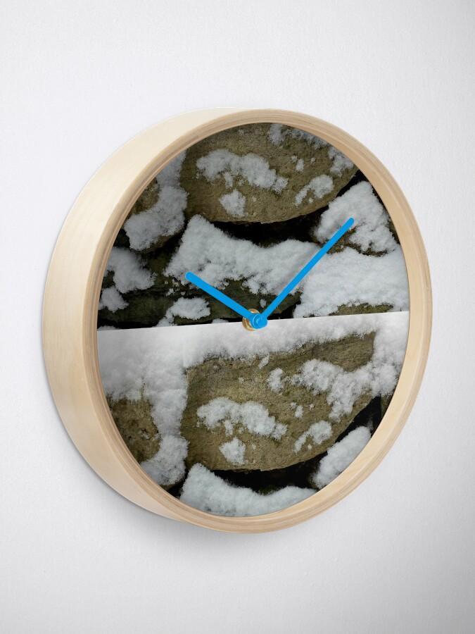 Alternate view of Snow design Clock