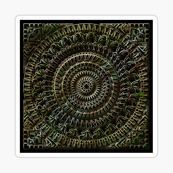 Exotic Darken Mandala  Sticker
