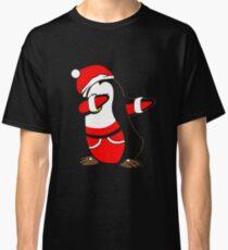 Dabbing Santa Christmas Penguin T Shirt Classic T-Shirt