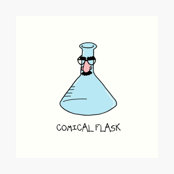 Comical Flask Art Print