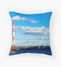 Industry, Halifax Docks Throw Pillow