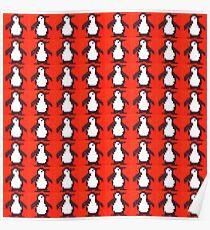 Penguin Knit Poster