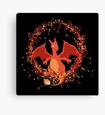Charizard dragon de fuego Pokemon Canvas Print