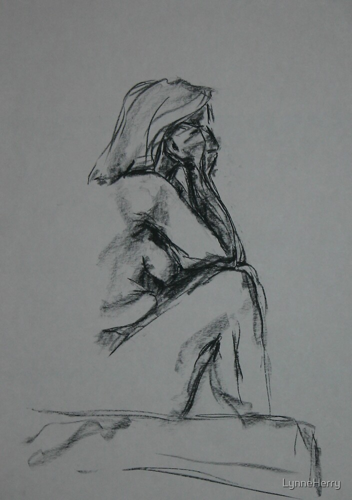 Seated Nude 4 by LynneHerry