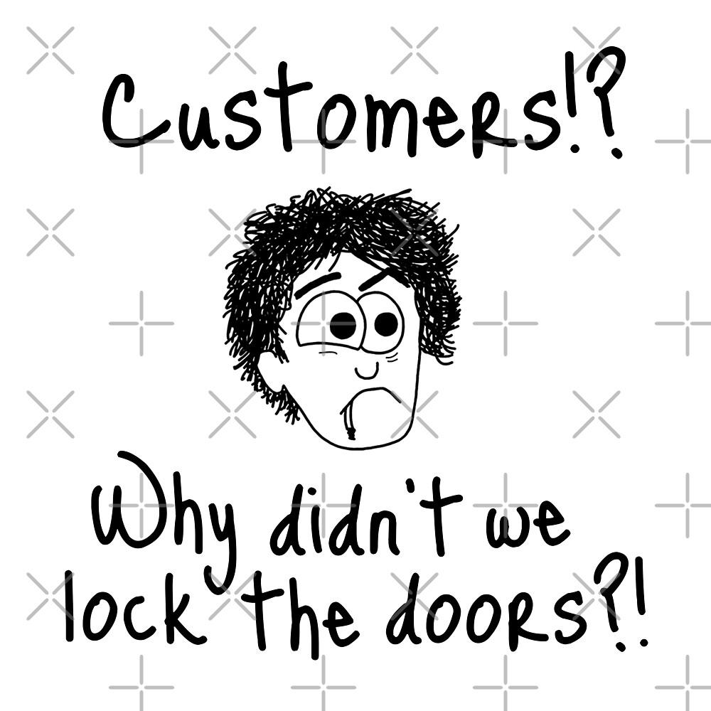 Black Books - Customers?! by Adrienne Body