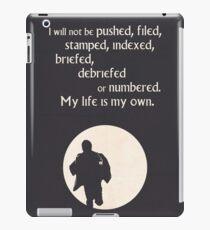 TV Quote - The Prisoner iPad Case/Skin