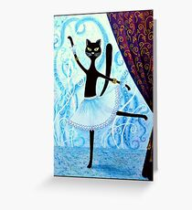 Cat ballet Greeting Card