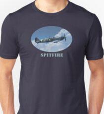 Supermarine Spitfire Cool WW2 Fighter Plane Unisex T-Shirt