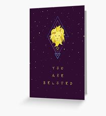 You Are Beloved Celestial Lion Greeting Card