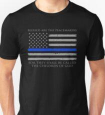 Gesegnet sind die Friedensstifter Slim Fit T-Shirt