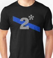 Two Asterisk K9 Officer Thin Blue Line Flag Unisex T-Shirt