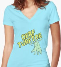 Derf Turftoe Women's Fitted V-Neck T-Shirt