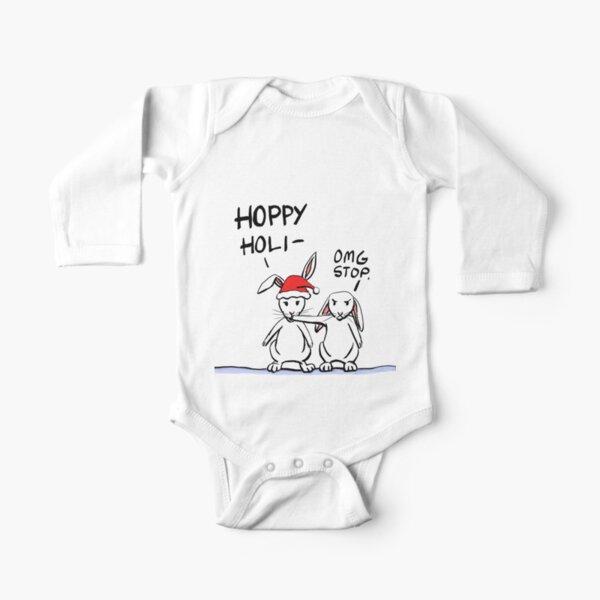 Hoppy Holidays Long Sleeve Baby One-Piece