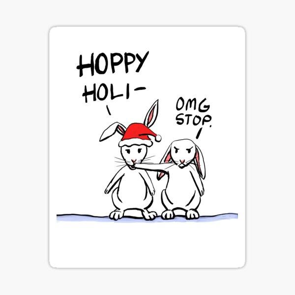 Hoppy Holidays Sticker