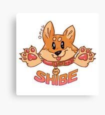 Shibe (with text) Canvas Print