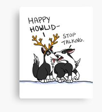 Happy Howlidays Canvas Print
