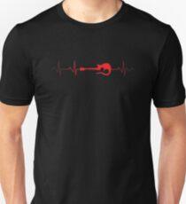 Guitar Heartbeat | guitarists tshirt | guitar gifts for men | guitar gifts for her | funny guitar shirt | guitar gift ideas | guitar gifts for him | bass guitar Unisex T-Shirt