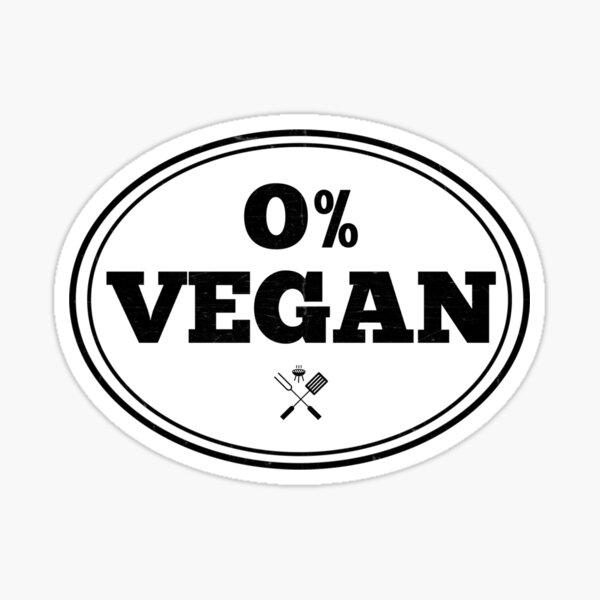 Anti Vegan Vegetarian BBQ Barbecue Smoker Grilling Tee Sticker