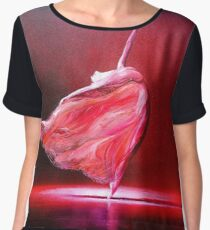 Ballerina in red Women's Chiffon Top