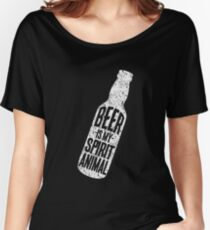 Beer Is My Spirit Animal Women's Relaxed Fit T-Shirt