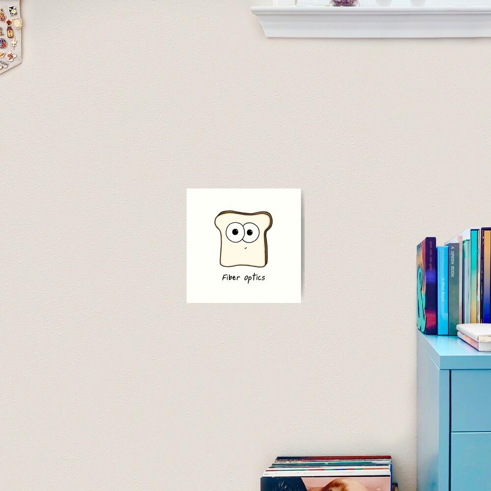 Fiber Optics - A science pun Art Print
