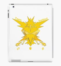 Team Instinct - Pokemon Go [Light bkgd] iPad Case/Skin