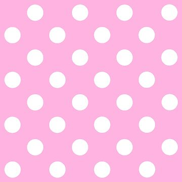 White on Pink Polka Dots Design - pokerdots by TheCartoonHouse