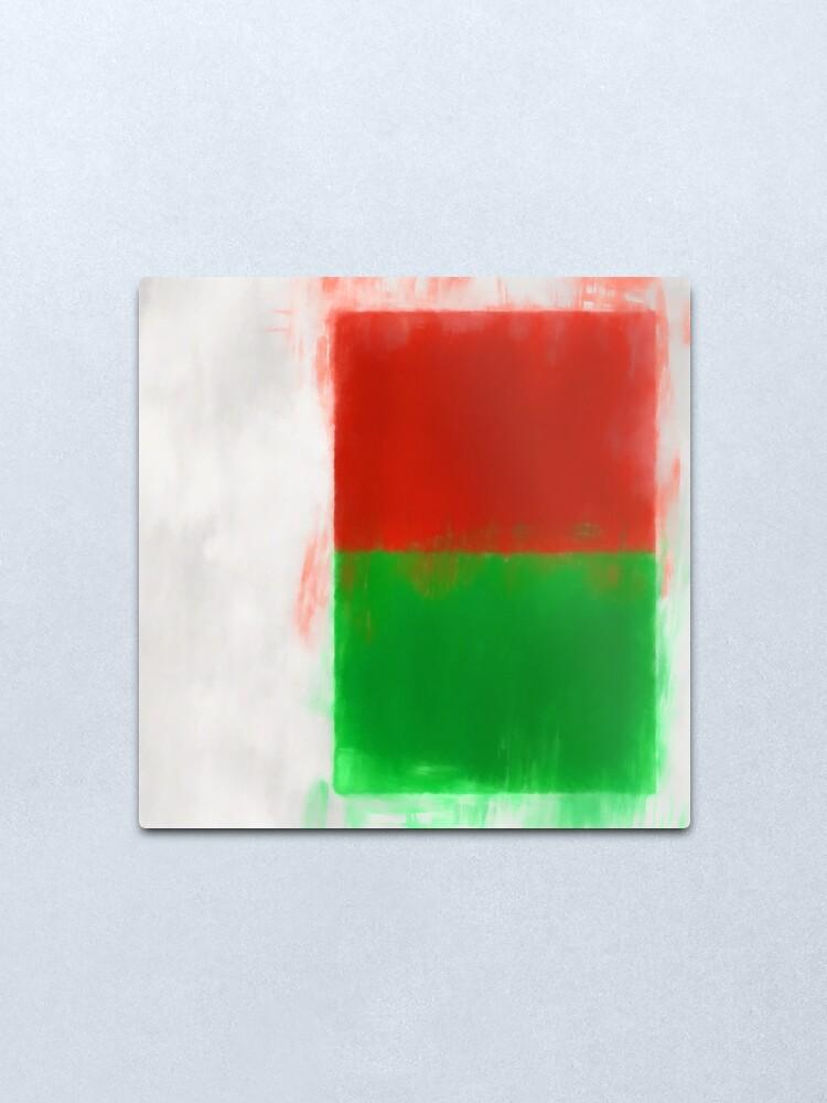 Alternate view of Madagascar Flag Reworked No. 2, Series 1 Metal Print