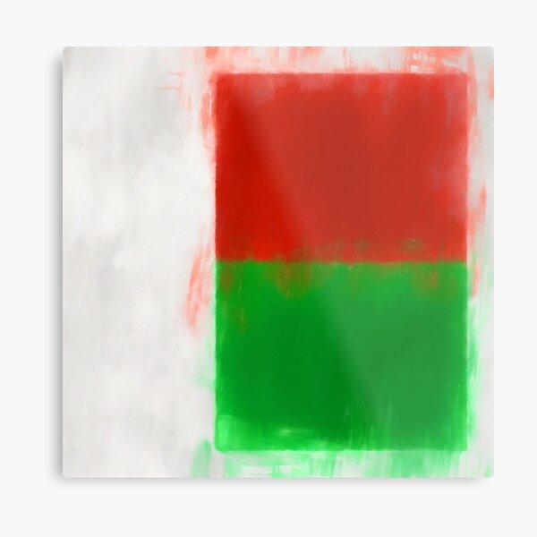 Madagascar Flag Reworked No. 2, Series 1 Metal Print