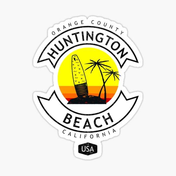 Huntington Beach California Surf Sticker