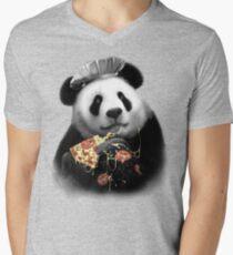 PANDA LOVES PIZZA Men's V-Neck T-Shirt