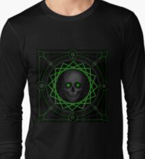 Green eyed skull Long Sleeve T-Shirt