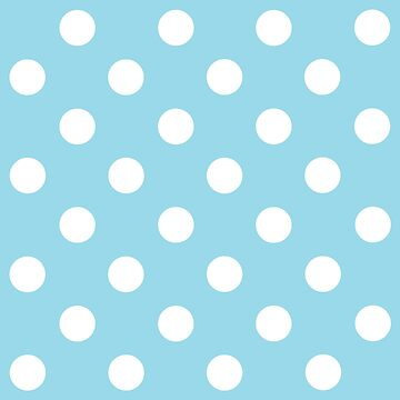 White on Blue Polka Dots Design - pokerdots by TheCartoonHouse